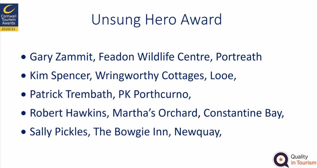 Unsung Hero Award