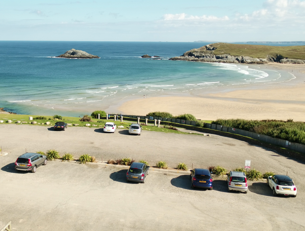 View of Crantock bay from The Bowgie